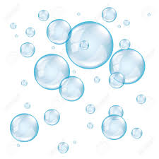 White Background Transparent Soap Bubbles On White Background Photo Realistic