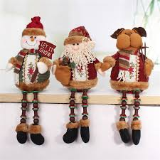 2017 new santa claus snow reindeer doll decoration