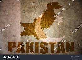 Flag Of Pakistan Pics Pakistan Map On Vintage Pakistani Flag Stock Illustration