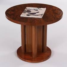 round walnut side table french art deco round walnut side table 1930s ref 14100 french