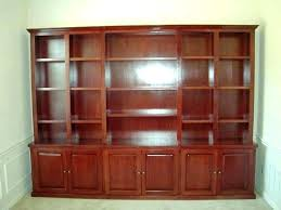 Cherry Wood Bookcase With Doors Glass Door Bookcase Mh5142testing Info