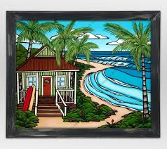 hawaii bungalow by heather brown tropical hawaiian surf art by