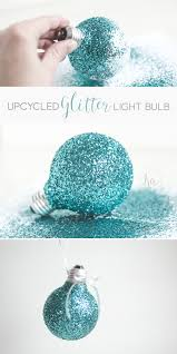 glitter light bulb ornament ka styles