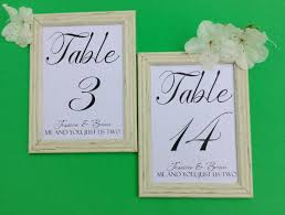 Wedding Table Number Cards Fancy Font Card Insert 5x7 2315391