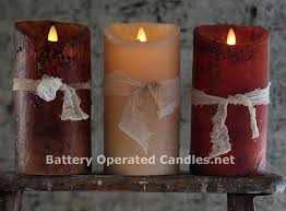 moving primitive brown candle battery operated 3 5 x 7