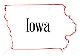 state of iowa map outline map of the state of iowa a white background royalty
