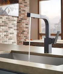kitchen faucet black finish danze adds satin black finish to mid town kitchen faucet design