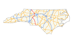 North Carolina State Map by U S Route 52 In North Carolina Wikipedia