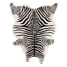 Zebra Print Outdoor Rug Zebra Cowhide Rug West Elm