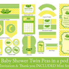 two peas in a pod baby shower decorations shop baby shower invitation on wanelo