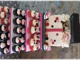 polka dot baby shower cupcake tower u0026 cake cakecentral com