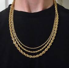 rope gold necklace images Gold rope chain 18k size 4 vintage instincts clothing JPG