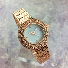 watches with chain bracelet images New model diamond dial face women watch rhinestone nurse steel jpg