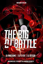 free dj battle flyer template awesomeflyer com