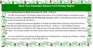 your calendars edison ford nights opens