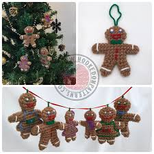 ravelry gingerbread family christmas tree decorations pattern by