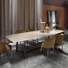 marble and metal dining table contemporary dining table glass metal marble gipsy flexform