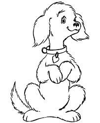 cute dog coloring pages getcoloringpages