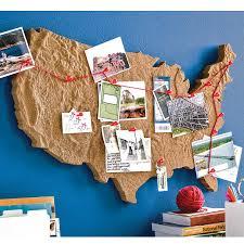 World Map Cork Board by Cross Country Keepsake Board Bulletin Boards Uncommongoods