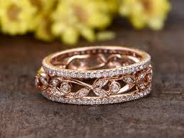 diamond wedding ring sets 14k rose gold anniversary ring full