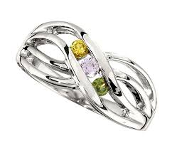 cheap mothers rings silver 1 to 4 stones s ring