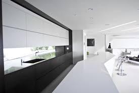 design modern black and white kitchen design chrome stainless