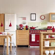 Red Kitchen With White Cabinets 25 Stunning Red Kitchen Design And Decorating Ideas
