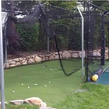Basement Batting Cage by Putting Greens Game On Sport Surfaces