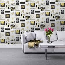 girls wallpaper themed bedroom unicorn stars heart glitter chic