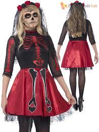 Skeleton Halloween Costume by Ladies Day Of The Dead Costume Skeleton Halloween Fancy