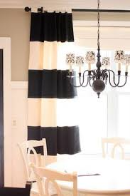 Black And White Striped Curtains 108 Broad Striped Curtain Panels Made From Tablecloths 6 Per
