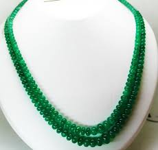 natural beads necklace images 269 cts 2 lines fine natural colombian emerald beads necklace jpg