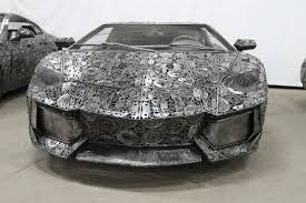 lego lamborghini life size artists take scrap metal and turns it into life sized supercar