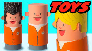 diy toilet paper roll craft miniature people craft ideas for