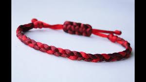 cord braid bracelet images How to make a 3 strand flat braid sliding knot friendship bracelet jpg