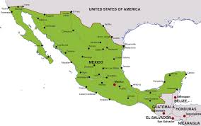 map of america with cities map of mexico showing cities major tourist attractions