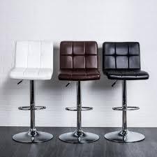 Black Leather Bar Stool Ksp Demi Tufted Faux Leather Barstool Black Kitchen Stuff Plus