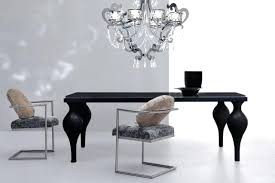 savor modern round extendable black lacquer dining table set and