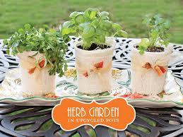 Upcycled Garden Decor Diy Tutorial Upcycled Mini Herb Garden Gardens Yogurt Cups And