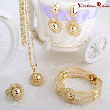 aliexpress necklace statement images Dubai gold color plated women necklace jewelry set chain african jpg