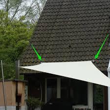 sonnensegel befestigung balkon dachpfannen befestigung für sonnensegel kaufen pina