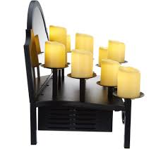 duraflame heated candelabra fireplace insert display page 1