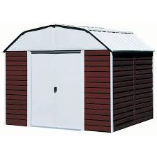 Lowes Outdoor Sheds by Shop Arrow Galvanized Steel Storage Shed Common 10 Ft X 14 Ft