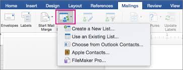 create mailing labels in word by using mail merge word for mac