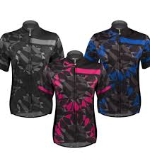 womens cycling jacket mosaic designer cycling jersey in pink or blue