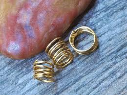 dreadlock accessories fashion gold silver jewelry loc dreadlock coils plain dread