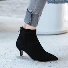 womens boots kitten heel aliexpress com buy kitten heels suede ankle boots 2017