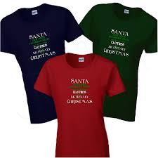 women u0027s t shirt funny santa saw your facebook posts you u0027re