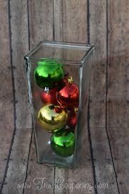 diy ornament vase centerpiece dollar store craft
