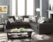 excellent black leather low profile sofa in l shaped with ottoman